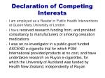 declaration of competing interests
