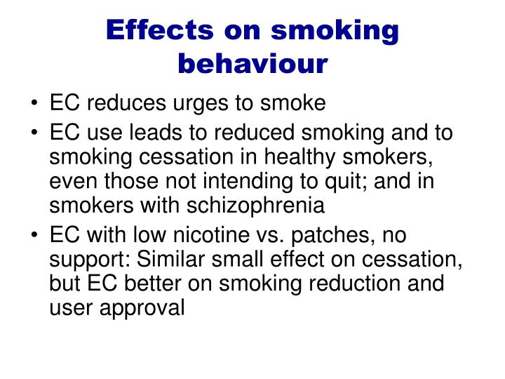 Effects on smoking behaviour