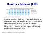 use by children uk