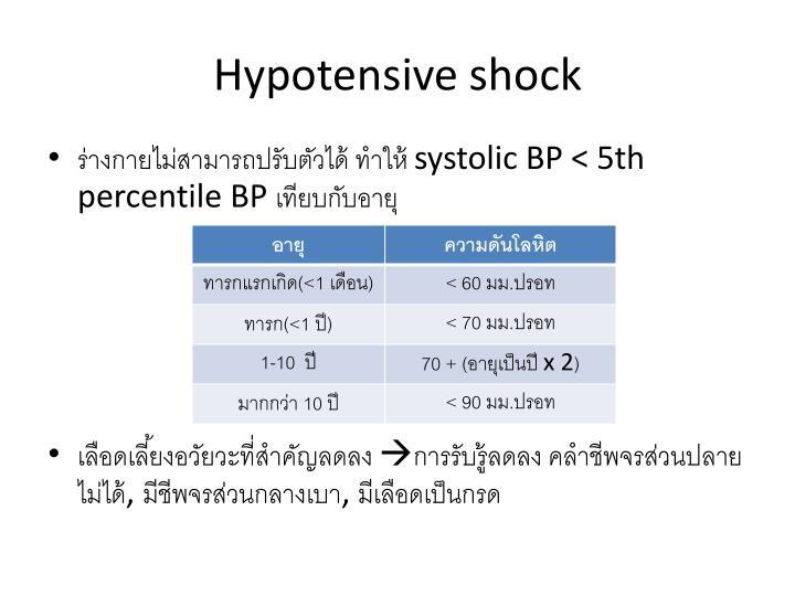 Hypotensive shock