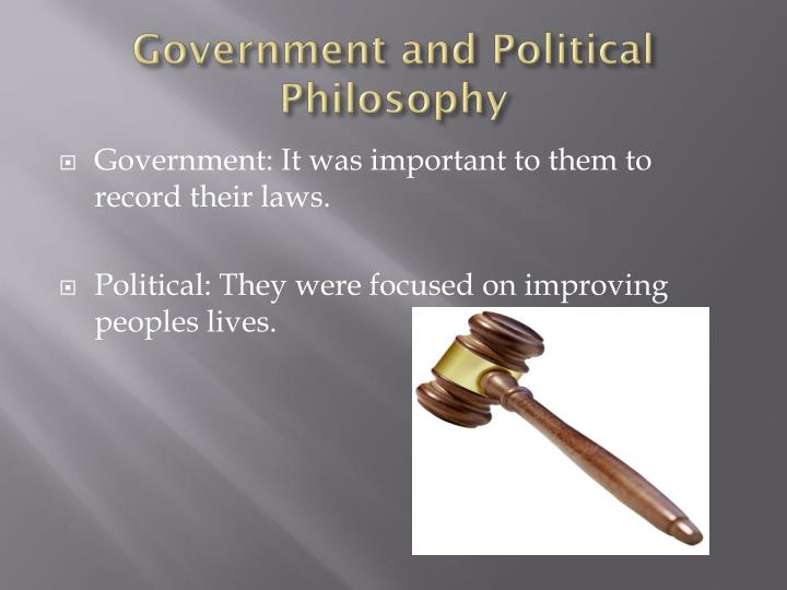 Government and Political Philosophy