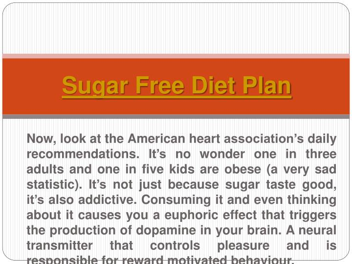 Sugar free diet plan