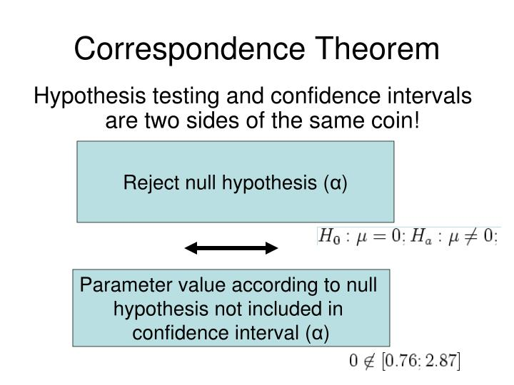 statistical hypothesis testing and two sided test