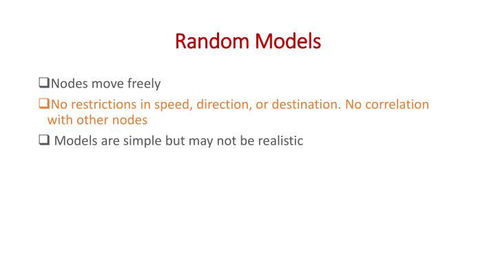 Random Models