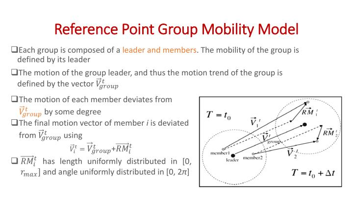Reference Point Group Mobility Model