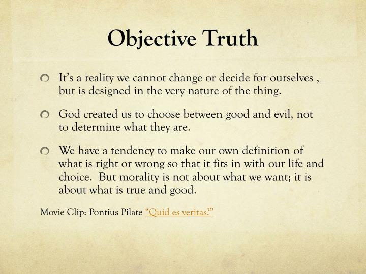 Objective Truth