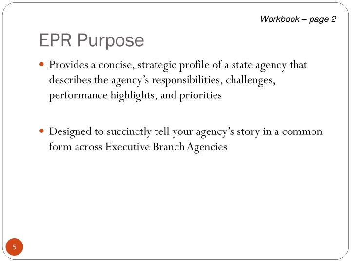EPR Purpose