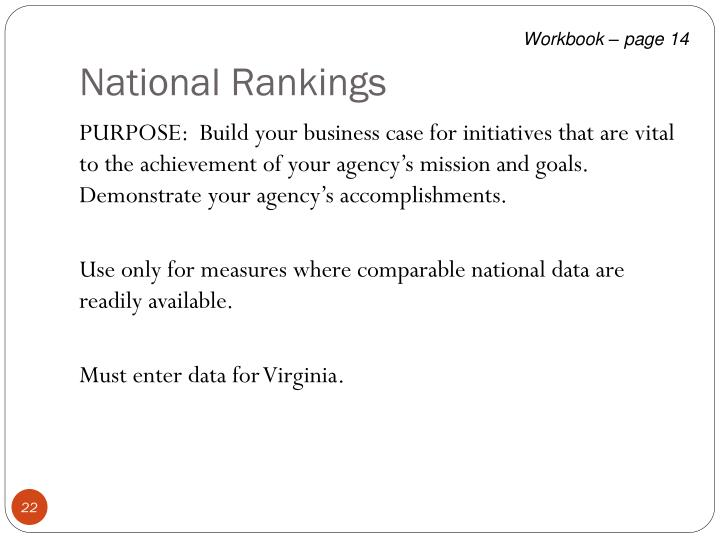 National Rankings