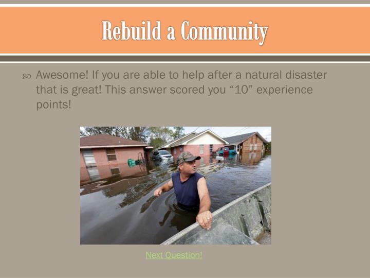 Rebuild a Community