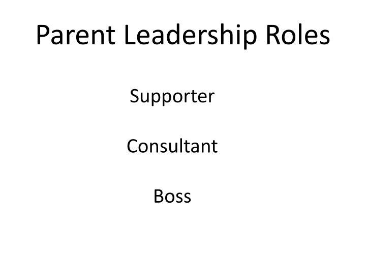 Parent Leadership Roles
