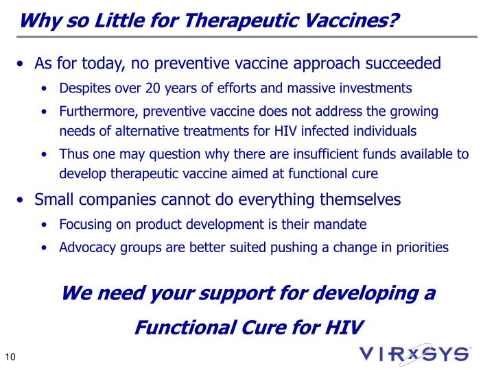 Why so Little for Therapeutic Vaccines?