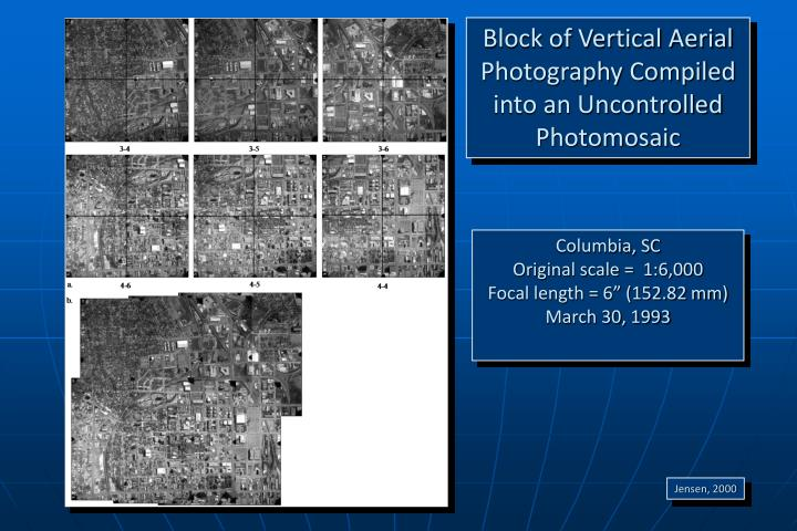 Block of Vertical Aerial Photography Compiled into an Uncontrolled Photomosaic