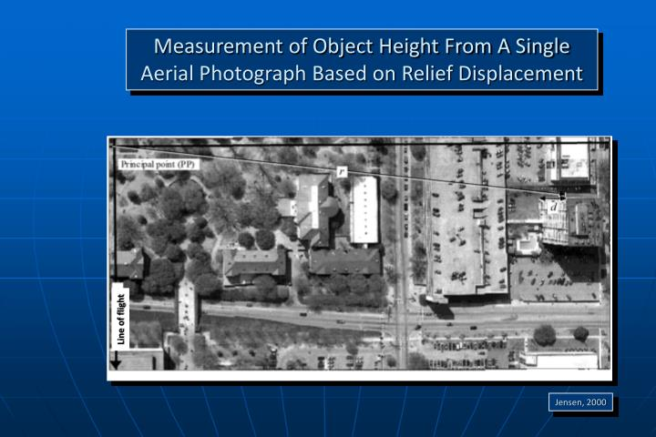 Measurement of Object Height From A Single Aerial Photograph Based on Relief Displacement