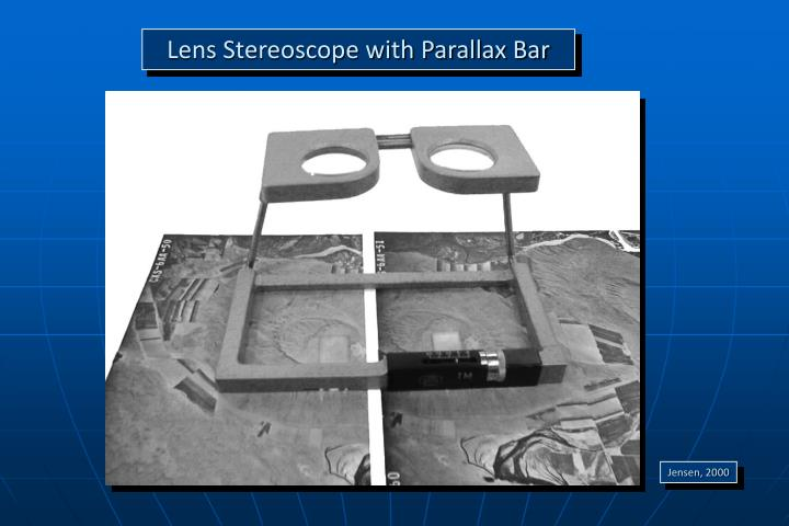 Lens Stereoscope with Parallax Bar