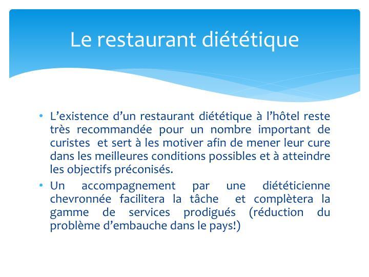 Le restaurant diététique