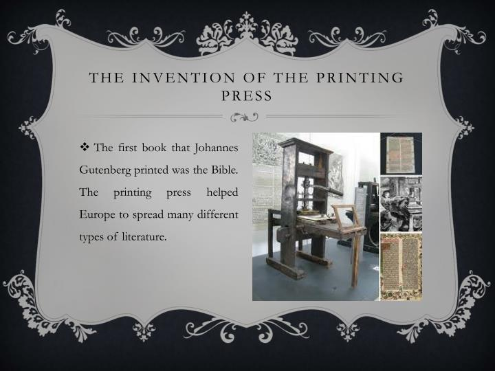 The invention of the printing press