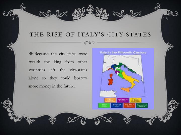 The rise of Italy's