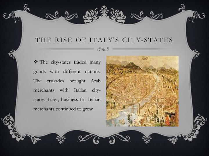 The rise of Italy's city-states