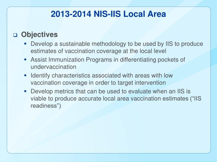 2013-2014 NIS-IIS Local Area
