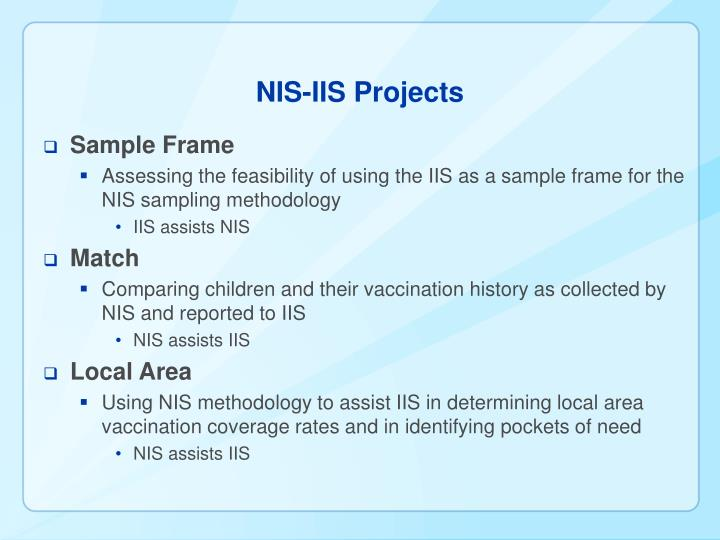 NIS-IIS Projects