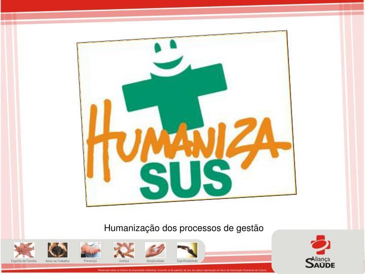 Humanização dos processos de gestão
