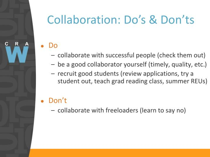 Collaboration: Do's & Don'ts