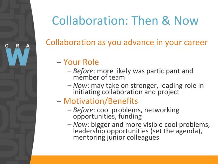 Collaboration: Then & Now
