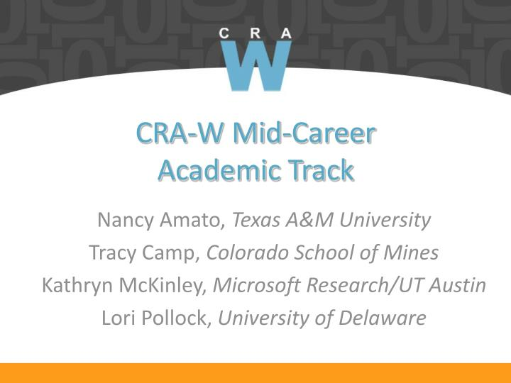 Cra w mid career academic track