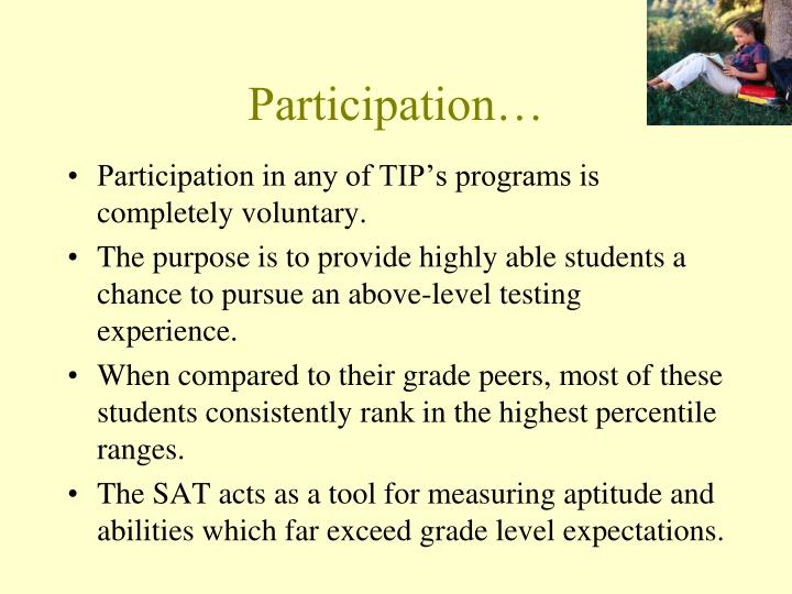 Participation…
