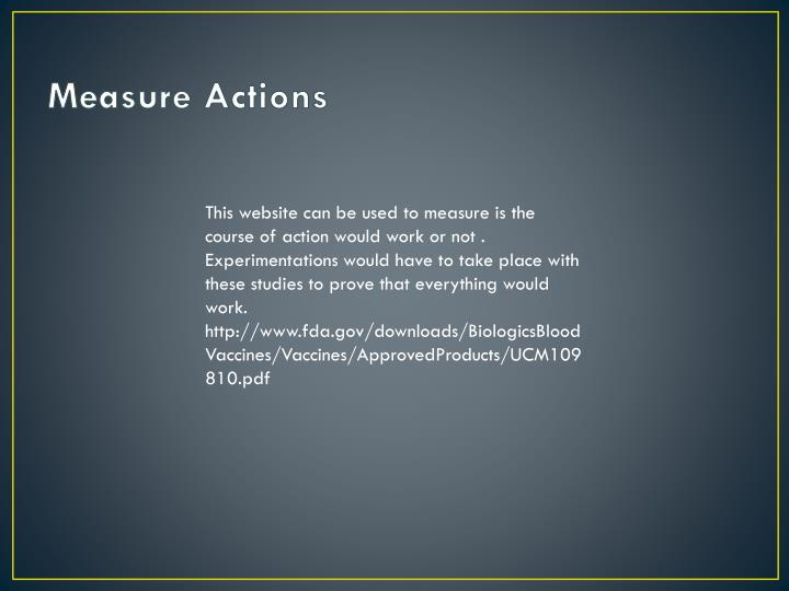 Measure Actions