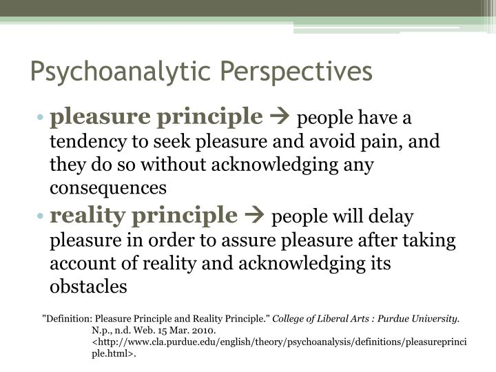 Psychoanalytic Perspectives
