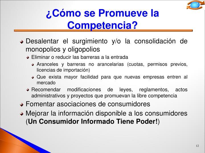 ¿Cómo se Promueve la Competencia?