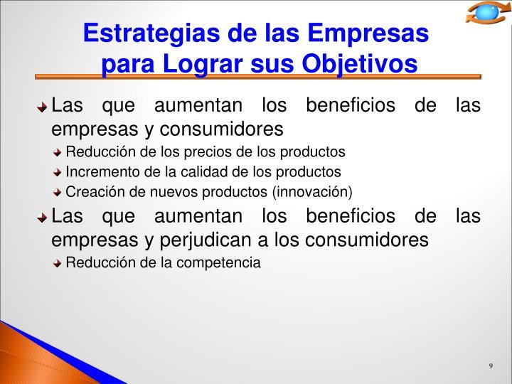 Estrategias de las Empresas