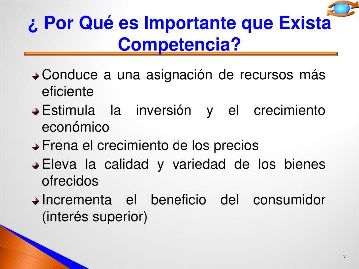 ¿ Por Qué es Importante que Exista Competencia?