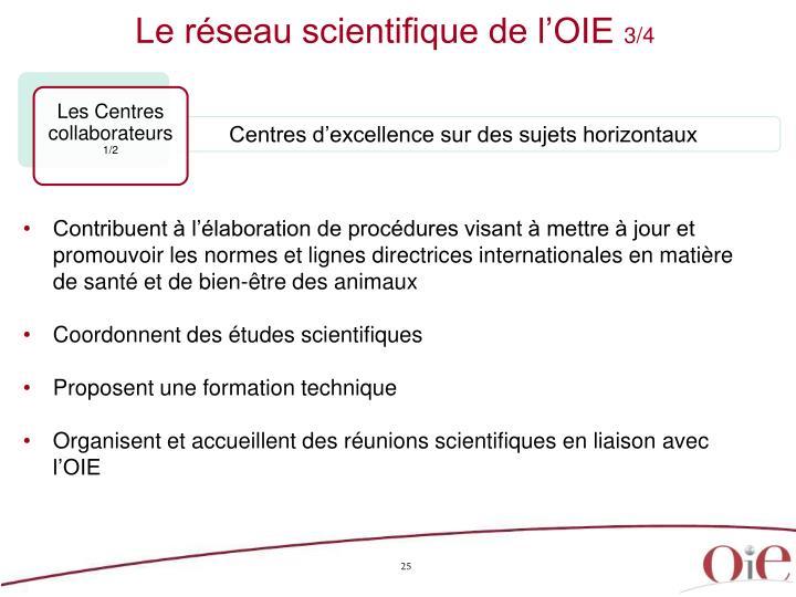 Le réseau scientifique de l'OIE