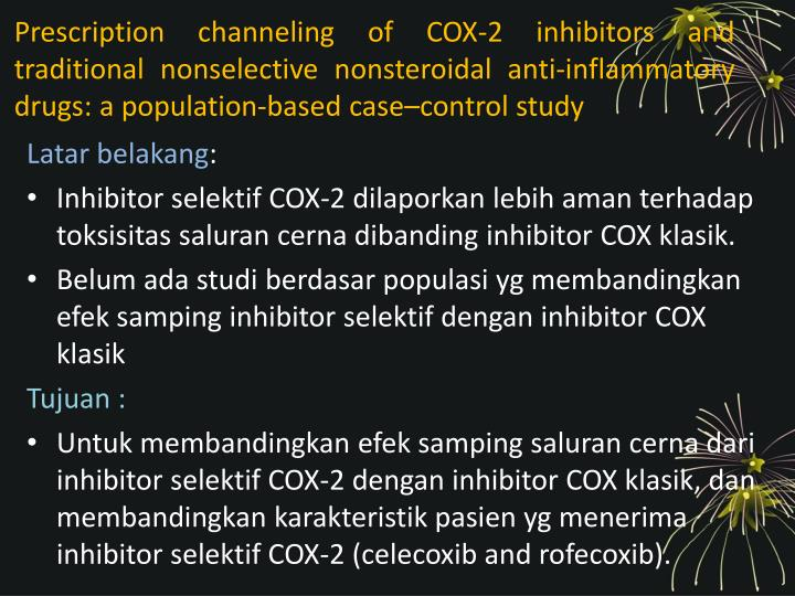 Prescription channeling of COX-2 inhibitors and traditional