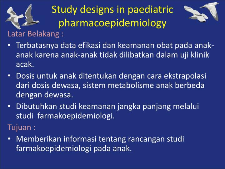 Study designs in
