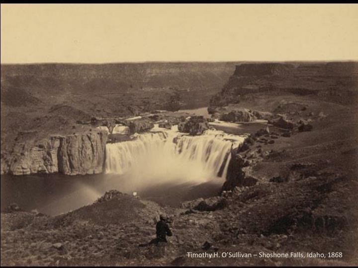 Timothy H. O'Sullivan – Shoshone Falls, Idaho, 1868