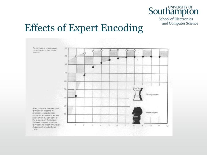 Effects of Expert Encoding