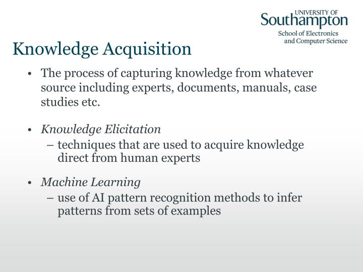 Knowledge acquisition1