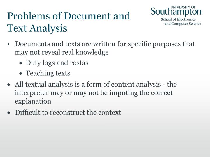Problems of Document and