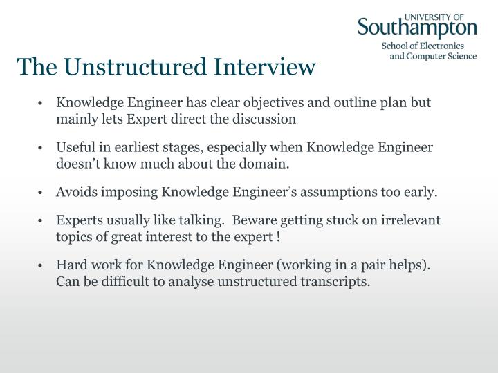The Unstructured Interview