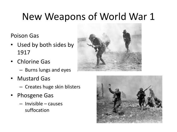 New Weapons of World War 1