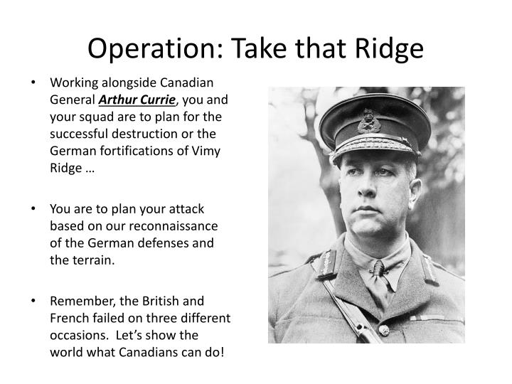 Operation: Take that Ridge