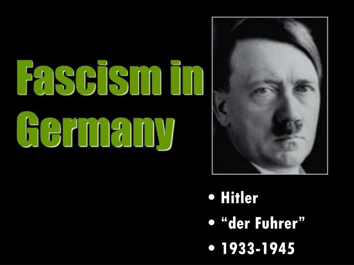fascism in germany During the 1920's and early 1930's, germany was unstable socially economically and politically the government was very often in a state of confusion the population was disappointed and scared, as the great wall street stock market crash of 1923 pushed the economy to a collapse before the people .