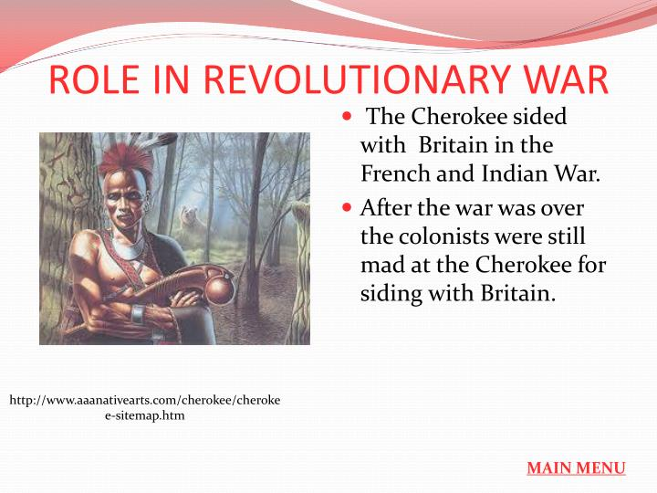 ROLE IN REVOLUTIONARY WAR