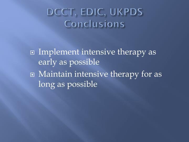 DCCT, EDIC, UKPDS