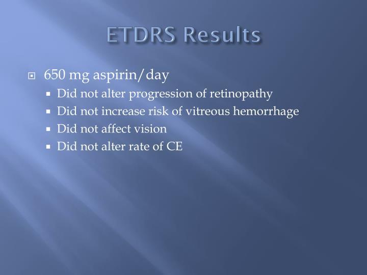 ETDRS Results