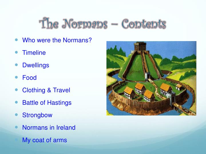 The normans contents