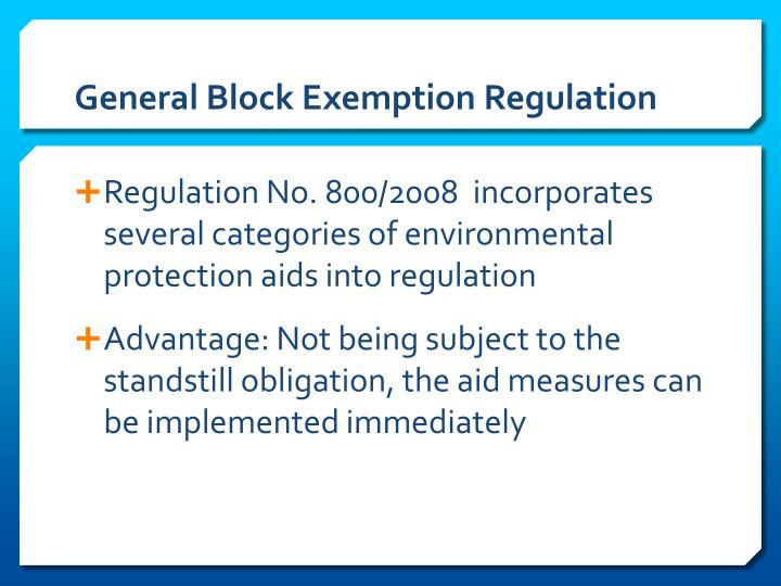 General Block Exemption Regulation